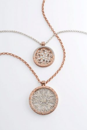 Nikki lissoni rojers jewellery nikki lissoni silver and rose gold coin pendant necklaces aloadofball Images